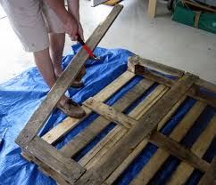 Step One In Creating Our DIY Pallet Sign Is To Break Apart The Wooden