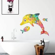 lebensfreude delfin fische wandtattoo 30x22cm klebebilder