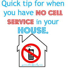 A quick fix for no cell service in the house