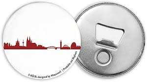 44spaces magnetic bottle opener with cologne city silhouette
