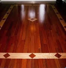 brazilian cherry hardwood floor with a red oak inlay design great