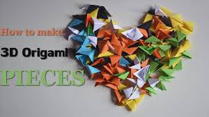 Picture Of 3D Origami Pieces