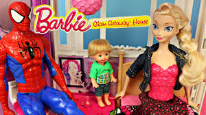 Disney Frozen Bathroom Sets by Barbie Dreamhouse Toy Review Glam Getaway House With Disney