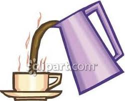 Pouring Coffee Pot Clipart