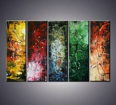 50 X30 Modern Abstract Palette Knife Multiple Panels Art Painting Ready To Hang
