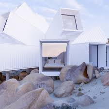 100 Containers Houses Joshua Tree Container House Made Of White Cargo