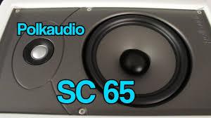 Polk Audio Ceiling Speakers Sc60 by Polkaudio Sc65 In Wall Speaker Youtube