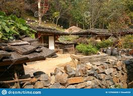 100 South Korean Houses Traditional And Yard Stock Photo Image