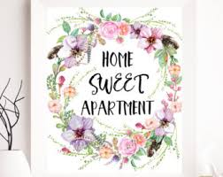 Home Printable Quote Print Wall Art Sweet Apartment