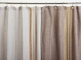 Rustic Linen Shower Curtains
