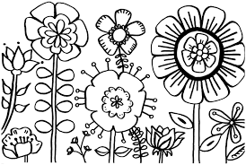 Spring Flower Coloring Pages Printable