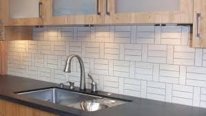 Lowes Canada White Subway Tile by Kitchen Shop Elida Ceramica Laser Metallic Earth Linear Mosaic
