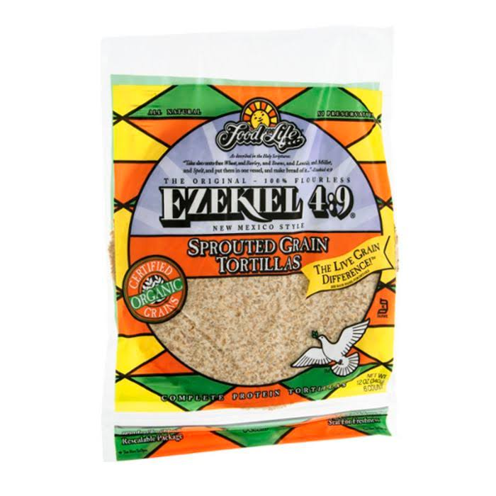 Food For Life Ezekiel 4:9 Tortillas, Sprouted Grain - 6 tortillas, 12 oz