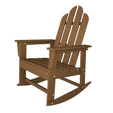 Mfg Corp Earth Brown Resin Stackable Adirondack Chair At Lowes.com ...