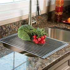 Over The Sink Colander by Over The Sink Roll Up Drying Rack Colander The Green Head