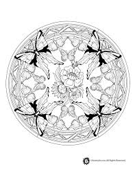 Animal Mandala Coloring Pages Butterfly Page Jr