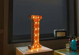 Vegas Metal Led Circus Letter Light N By All Things Brighton