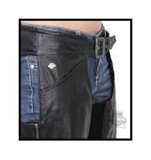 harley davidson womens essential b u0026s metal badge black chaps