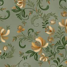 100 Flannel Flower Glass Henry Plain And Simple Folk Art Toss Sage Green Henry