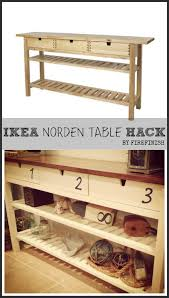 Ikea Hack Dining Room Hutch by Ikea Hack Norden Table Hack Stained Top And Numbers Added