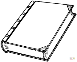 Open Book Coloring Page