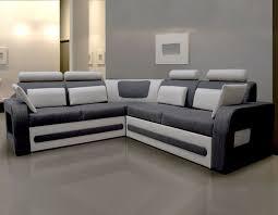 coffre canapé canapé d angle convertible tissu gris avec coffre aglibo 2