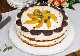 pfirsich schaumkuss torte