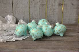 Mint green Christmas ornaments – The Vintage Artistry