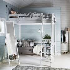 Bunk Bed With Desk Ikea Uk by Home Design Ikea Svarta Loft Bed Frame With Desk 7500 Picclick