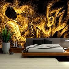 gold tapete für wände abstrakte goldene saxophon jazz musik
