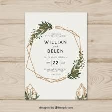 Simple Hand Drawn Wedding Invitation With A Wreath