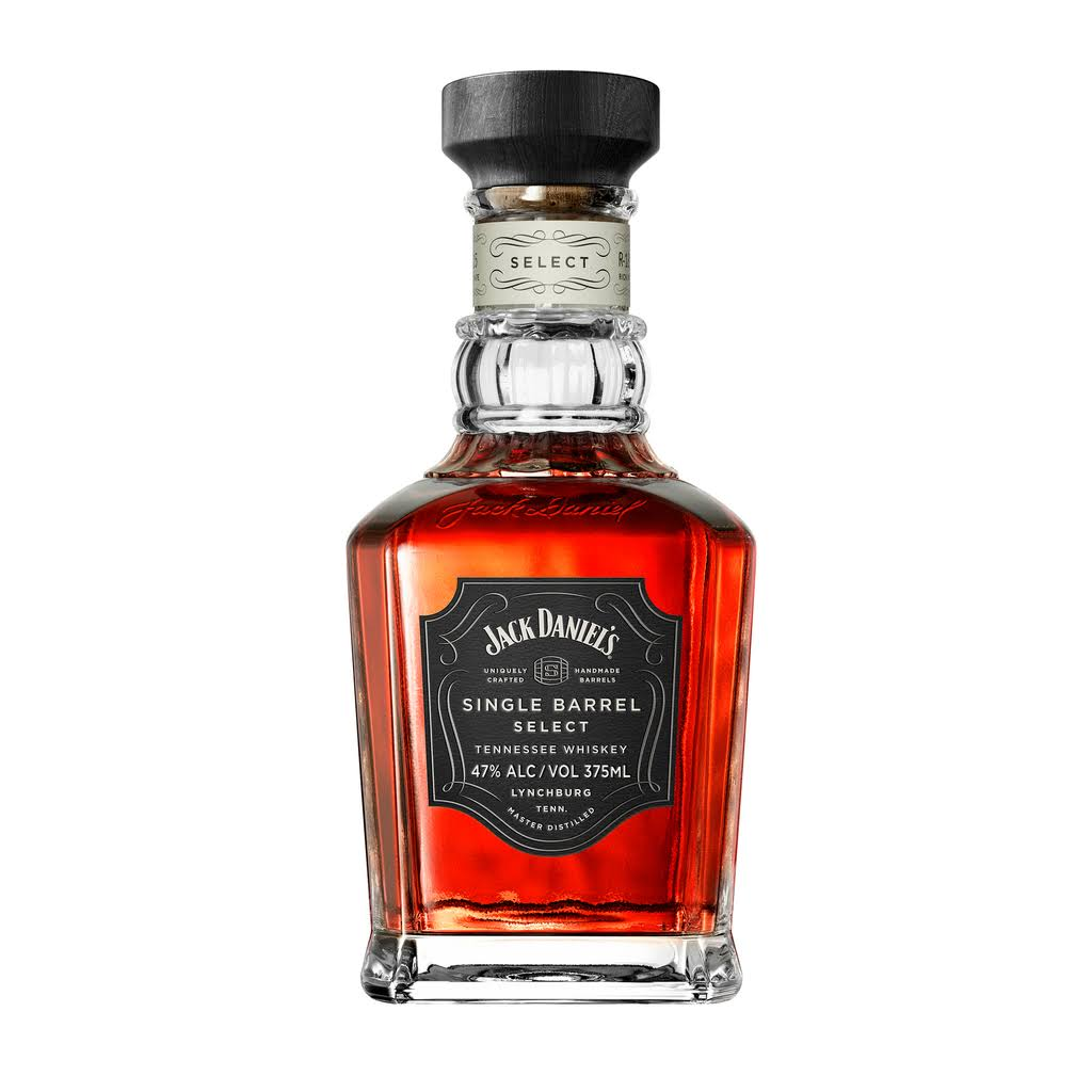 Jack Daniels Single Barrel Select Whiskey, Tennessee Whiskey - 375 ml