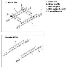 lateral file cabinet rails 42 meridian file cabinet rails lateral