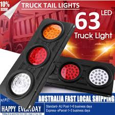 2 X 63 LED Ute Rear Trailer Tail Lights Caravan Truck Car Indicator ... 2x Led Rear Tail Lights Truck Trailer Camper Caravan Bus Lorry Van 0708 Dodge Ram Pickup Euro Red Clear 111 Round And W Builtin Reflector 4 Inch Led Whosale 2018 8 Car Light Warning Rear Lamps Waterproof Amazonca Trucklite 44022r Super 44 Stopturntail Kit 42 2 Pcs With License Plate Lamp Durable Lights Ucktrailer Circular Stoptail Lamp 1030v 1 Pair 12v Turn Signal 20fordf150taillight The Fast Lane