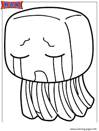 Minecraft Creature Ghast Coloring Pages Printable