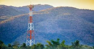 Cell Phone Tower that sticks way above the tree line