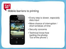 Mobile 13 Mobile barriers to printing