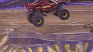 100 Monster Truck Oakland Jam Iron Man Freestyle In CA February 22 2014