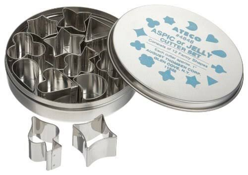 Ateco 12-Piece Aspic Jelly Cutter Set - 1in