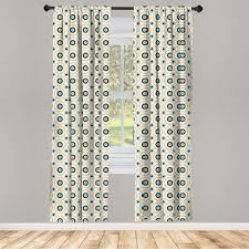 gardine fensterbehandlungen 2 panel set für wohnzimmer schlafzimmer dekor abakuhaus retro kreise spots bunte kaufen otto
