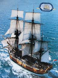 Hms Bounty Replica Sinking by The Tall Ship Bounty Sails Into San Francisco Bay During The