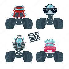 100 Juegos De Monster Truck Juego Vector De Stock Ne2pi 101703040