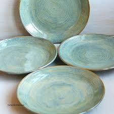Southwestern Style Dinnerware Sets Inspirational Ceramic Dinner Plates Rustic Green Handmade