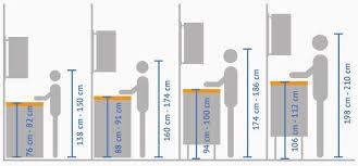 verschiedene körpergrößen erfordern unterschiedliche höhen