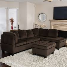 Tufted Velvet Sofa Set by Amazon Com Welsh Chocolate Fabric Sectional Sofa Set Kitchen