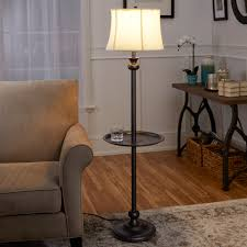 Mainstays Floor Lamp With Reading Light Assembly by Better Homes And Gardens Black Floor Lamp With Tray Cfl Bulb