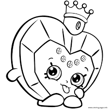 Season 7 Perfume Shopkins Big Hearted Princess Scent Coloring Pages