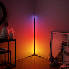 moderne minimale rgb boden le für home dekoration bunte ecke stehend licht wohnzimmer innen beleuchtung leuchten