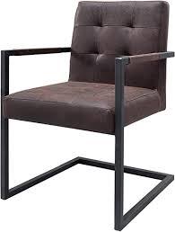 dunord design esszimmerstuhl sutton vintage braun leder