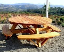 the 25 best round picnic table ideas on pinterest picnic tables